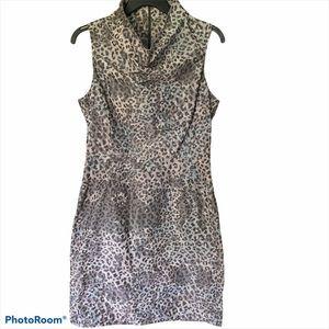 Marc New York Andrew Mark leopard cowl neck dress